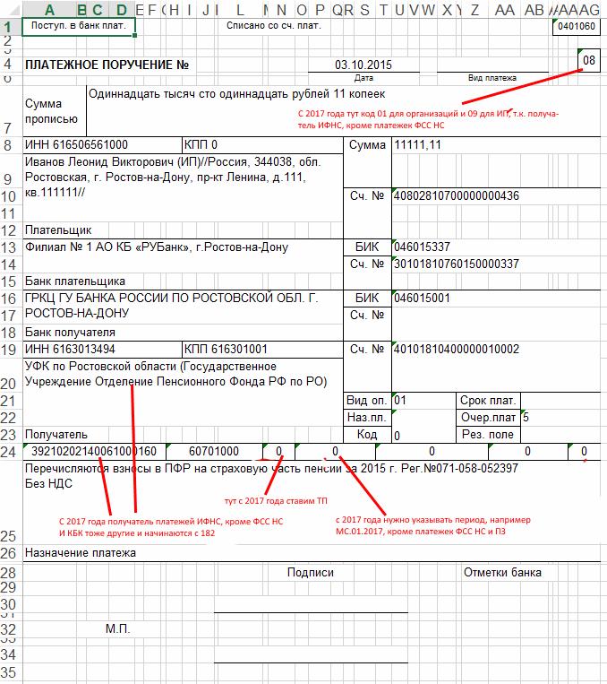 Платежка на зарплату на карту сотрудника