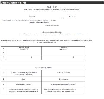 образец заявления об получении выписки из егрип