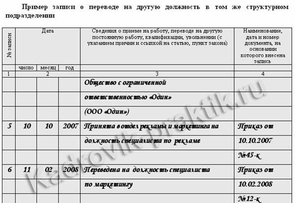 Образец как сделать правильно запись в трудовую книжку об увольнении купить пакет документов для кредита с подтверждением в ульяновске